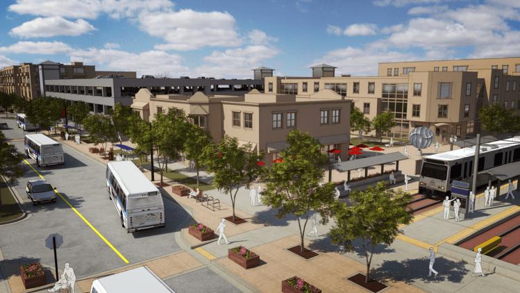 Rendering of downtown longmont
