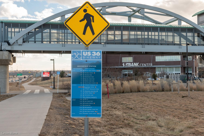 US 36 Bikeway Sign