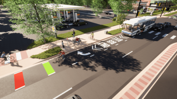 28th Street Bus Rapid Transit Rendering
