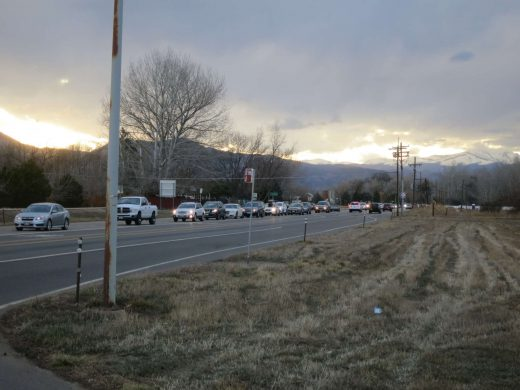 Photo of traffic along SH 119