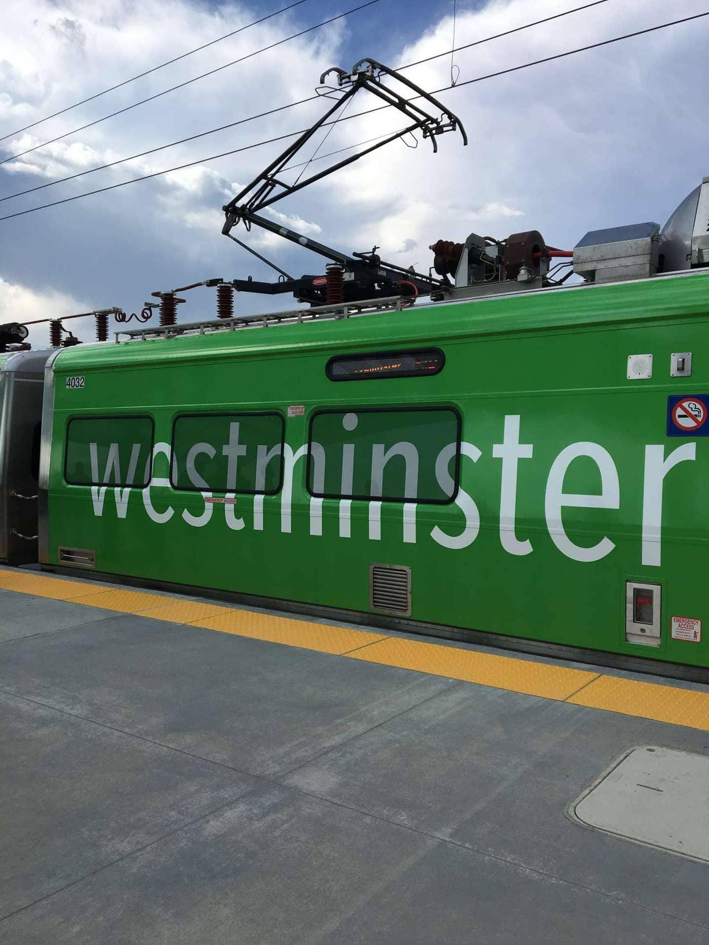 B Line Rail to Westminster Colorado