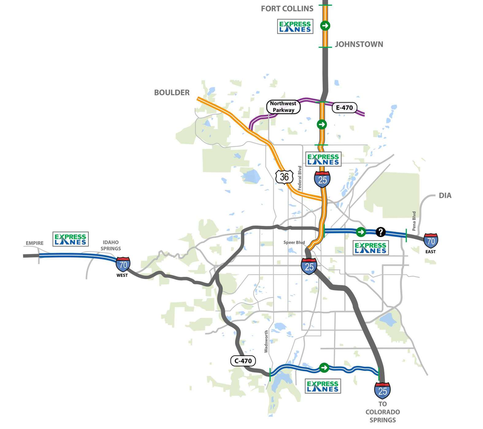 Things You Need To Know About Colorados I Toll Lane EZPass - Map of us road system
