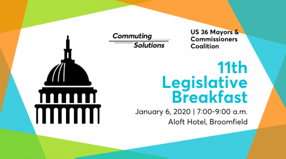 Legislative Breakfast graphic with time and date