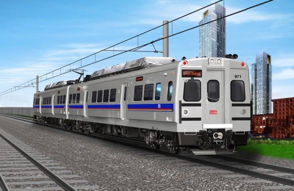 RTD Rendering Northwest Rail Train Car