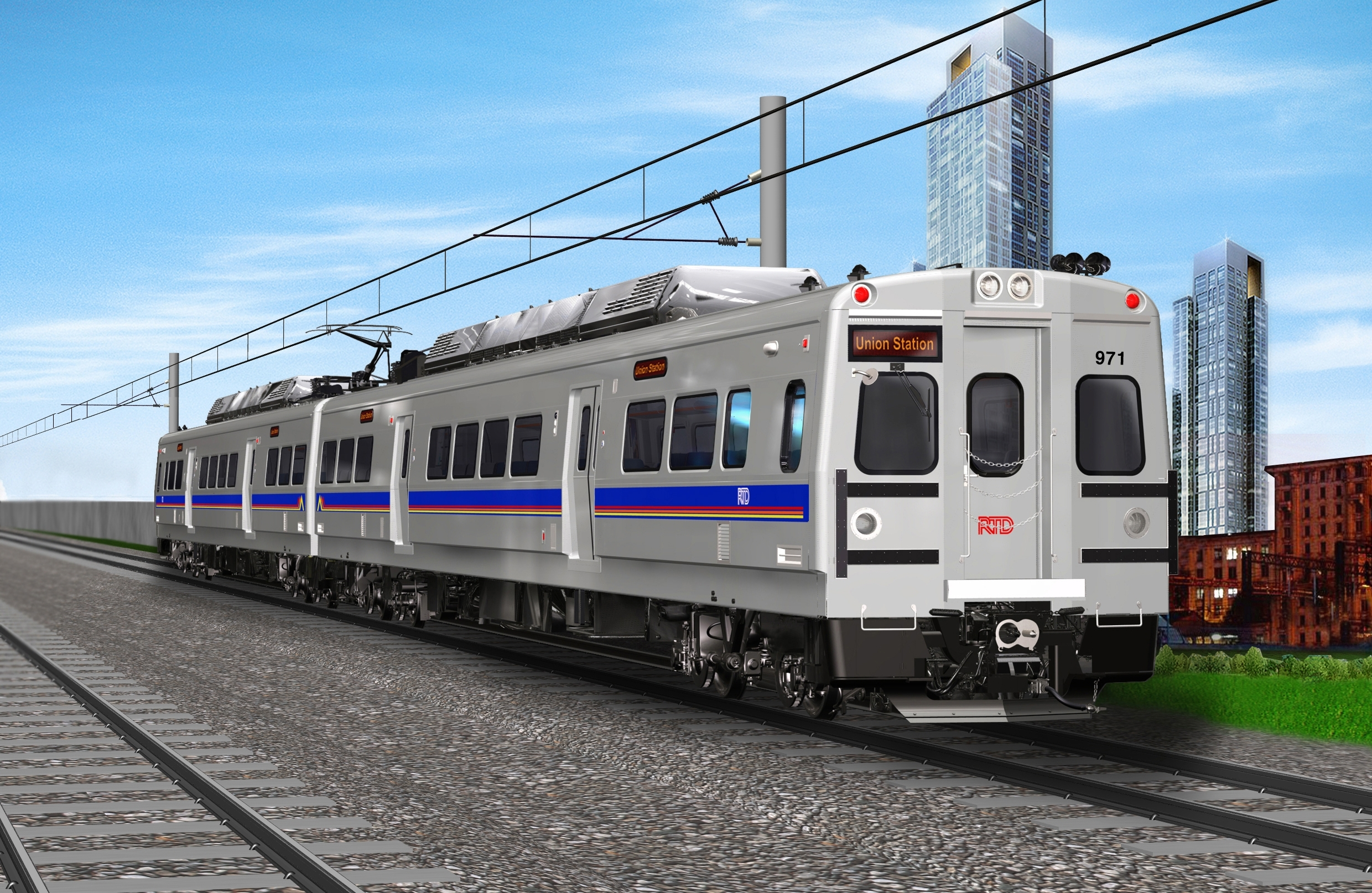 RTD Rendering Northwest Rail Train Car