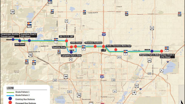 Colorado State Highway 7 Corridor Project Map
