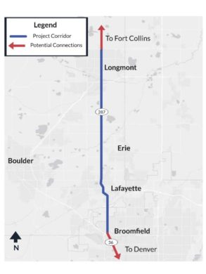 US 287 Corridor Project Map