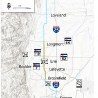 US 287 Corridor Project Map